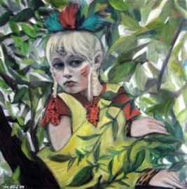 indianerwoche-iris-hilpert-meissen portraitmalerei