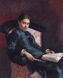 Portrait Vera Repina (Ilja Repin) 1878 - Quelle wikipedia: public domain