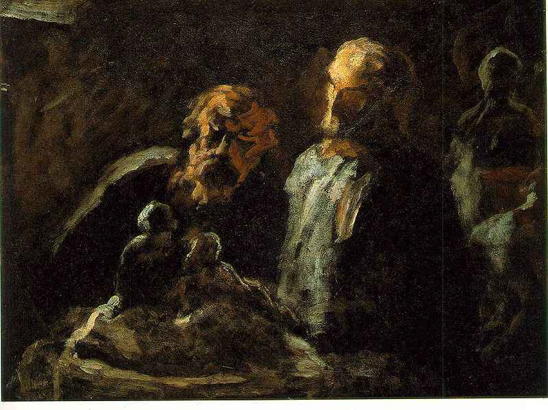 Honore-Daumier-Two-Sculptors-Zwei-Bildhauer