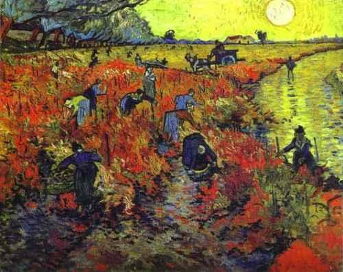 """Roter Weinberg"" 1888 - Vincent van Gogh"