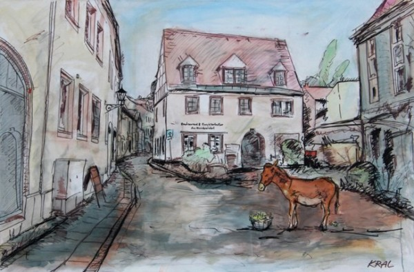 Kunstevent kunstfest Michael Kral · Meißen - Am Hundewinkel · Mischtechnik auf Leinwand · 150 x 100 cm · 2016
