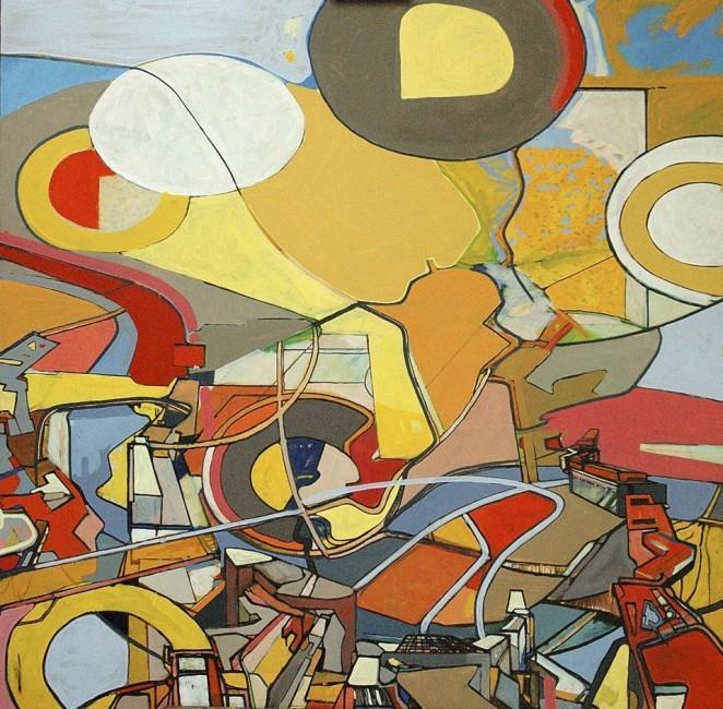ignacio klindworth Madrid ampliación-del-territorio-inkjetprint-óleo-sobre-tela-114x114