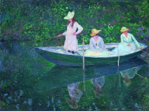 Monet - In der Barke, 1887 © RMN-Grand Palais (Musée d Orsay) Hervé Lewandowski