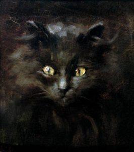 portrait einer katze tierportrait julius adam katzenmaler