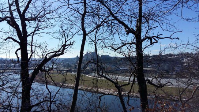 An den Katzenstufen | 21.03.2018 mit Blick zur Burg