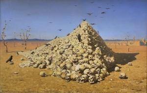 apotheose Apotheosis Wassili Wassiljewitsch Wereschtschagin | Die Apotheose des Krieges