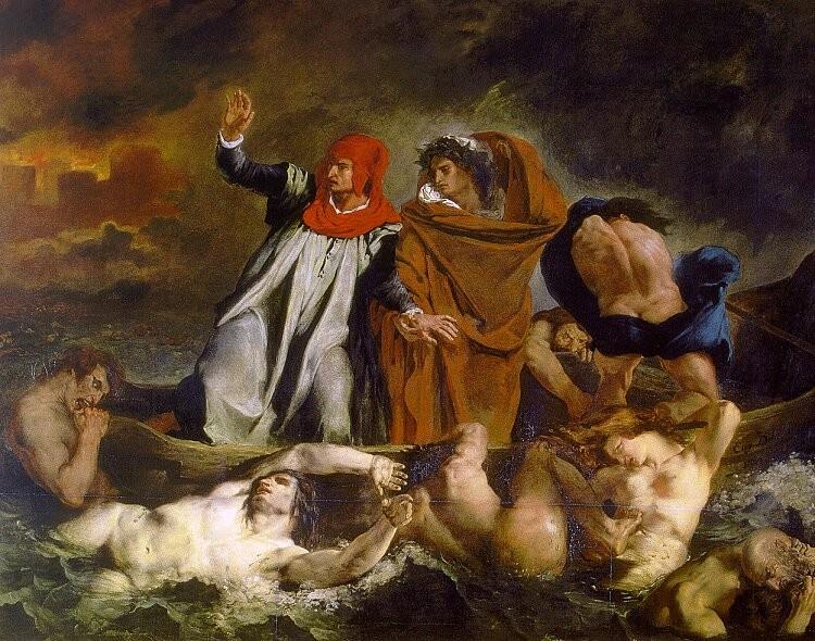 Dante barke Eugène Delacroix