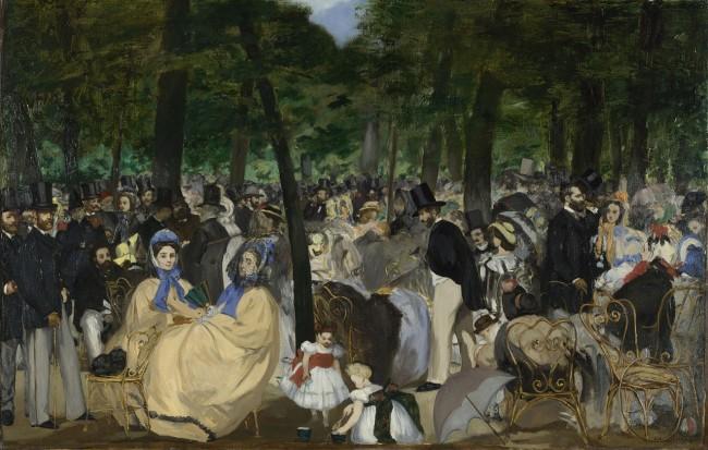 inventing impressionism Musik im Tuileriengarten, 1862
